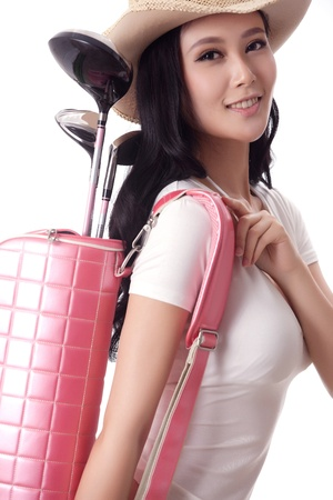 Asian woman play golf Stock Photo - 16622390
