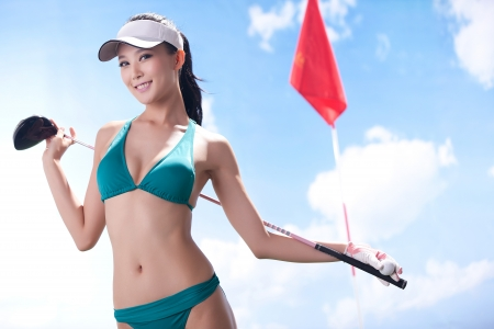 Sexy golfing Stock Photo - 16622377