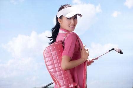 Asian woman play golf Stock Photo - 16622355