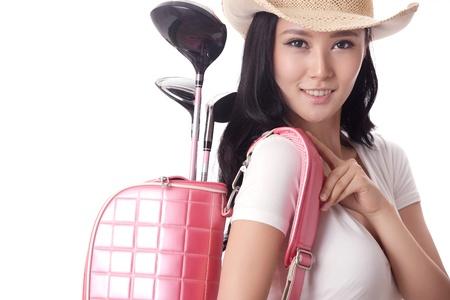 Asian woman play golf Stock Photo - 16622376