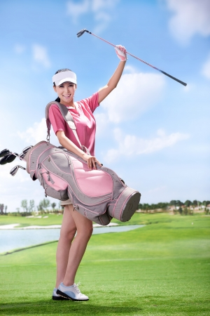 Asian woman play golf Stock Photo - 16622388