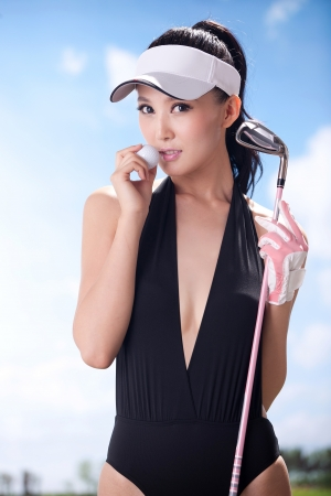 Sexy golfing Stock Photo - 16622382