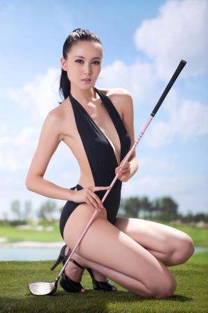 Sexy golfing Stock Photo - 16622384