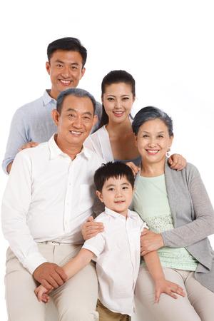 Whole family photo