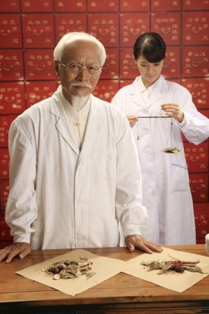 herbalist doctors in store photo