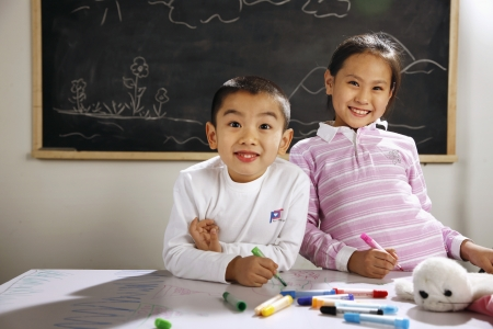 Oriental Children in the classroom,China Stock Photo - 23176650