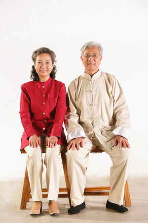 A shot of Old couple sitting together photo