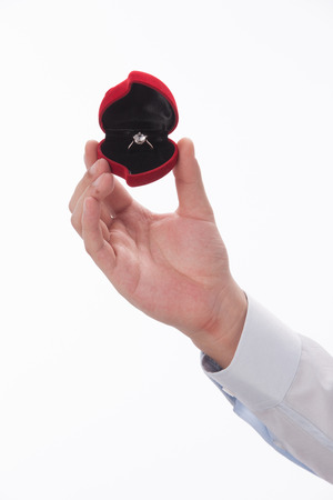 A shot of Man holding ring Stock Photo - 23944338