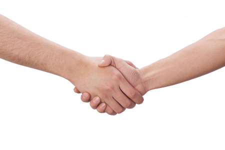 A shot of Shaking hands photo