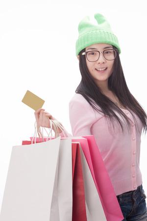 A shot of Woman shopping photo