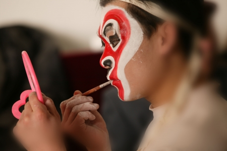 A shot of beijing opera photo