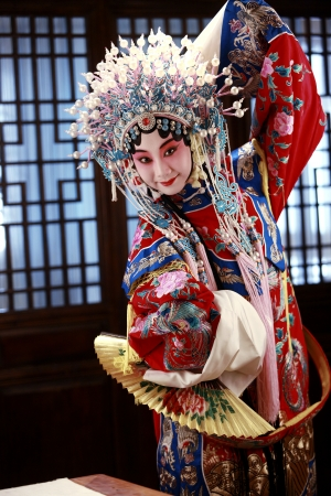 chinese opera: A shot of Actress Dressing As Beijing Opera Characters,China