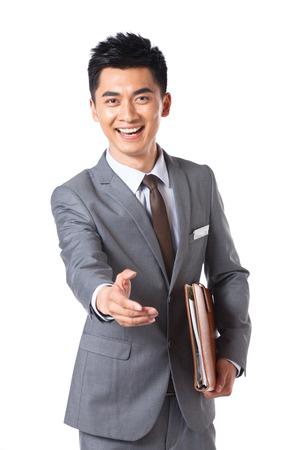 customer service representativ: Young businessman