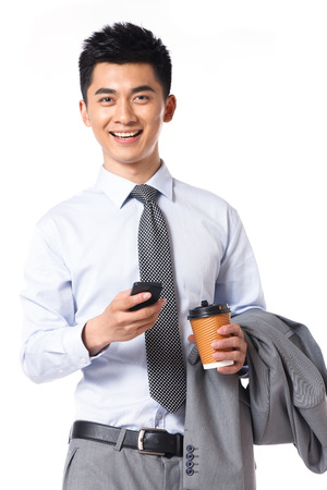 one young man: Young businessman protrait Stock Photo