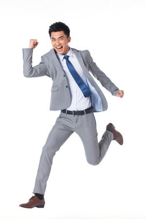 exhilaration: Young businessman