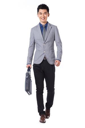 power walking: Young businessman protrait Stock Photo