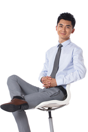 three people only: Young businessman protrait Stock Photo