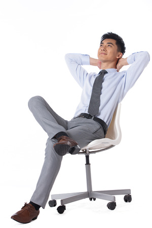 Young businessman protrait photo