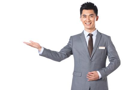 customer service representativ: Young businessman protrait Stock Photo