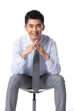 vertical wellness: Young businessman protrait Stock Photo