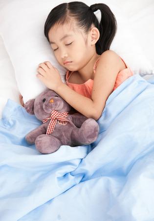 a sleeping girl photo