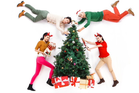 happy young people: Happy young people in Christmas
