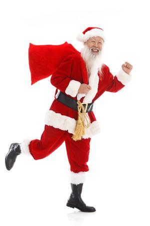 65 69 years: Happy Santa Claus in Christmas