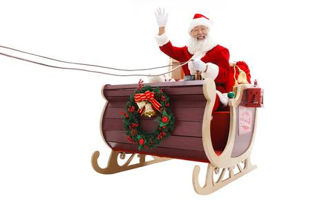 hailing: Happy Santa Claus in Christmas