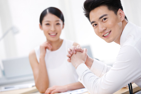 china people: Young business people Stock Photo