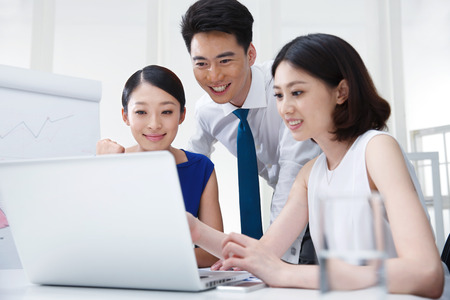 asian ethnicity: Young business people Stock Photo