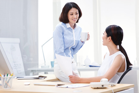 white color worker: Young business people Stock Photo