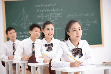 High school students 版權商用圖片