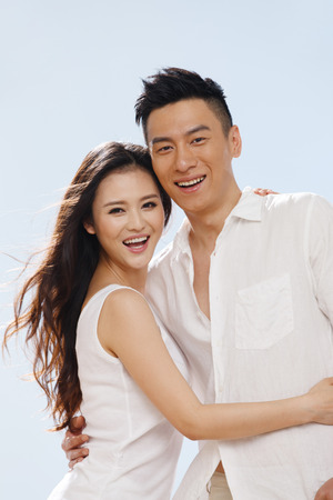 Couple on beach 免版税图像