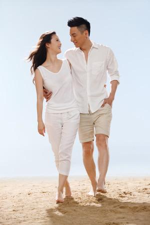 Couple on beach photo