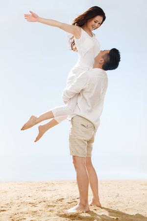 Couple on beach Stok Fotoğraf