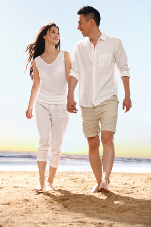 adult couple: Couple on beach Stock Photo