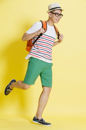 running man: Handsome young man