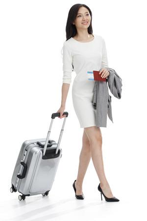 Office women: Luggage business women Stock Photo