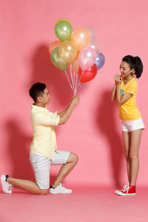 out of engagement: Young men propose to young women