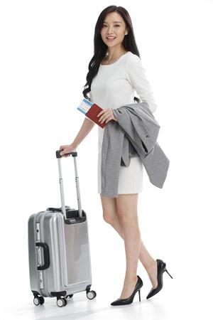 full shot: Luggage business women Stock Photo