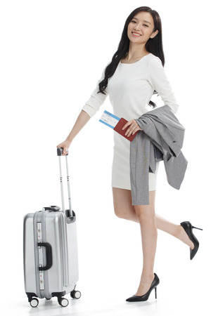 travel woman: Luggage business women Stock Photo