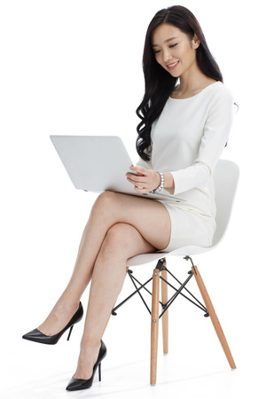 Office women: Young business woman Stock Photo