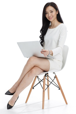 asian businesswoman: Young business woman Stock Photo