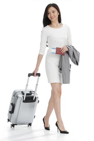 mujeres de negocios equipaje