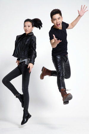 asia people: Fashion young men and women Stock Photo