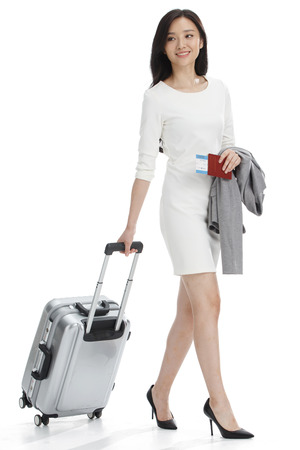business traveller: Luggage business women Stock Photo