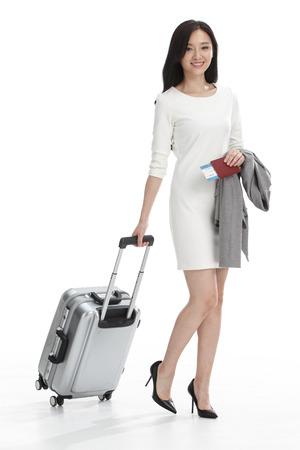 luggage travel: Luggage business women Stock Photo