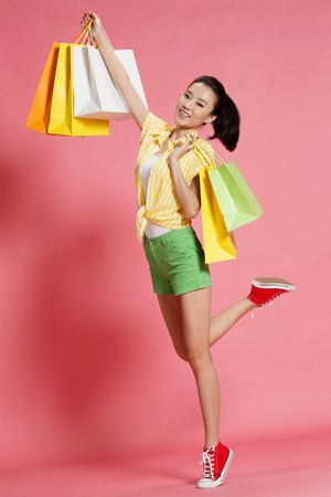 oriental ethnicity: Young women shopping