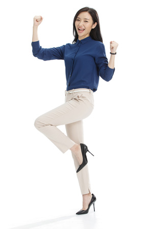 Jonge vrouwen in het bedrijfsleven Stockfoto