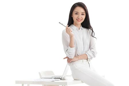 Las mujeres jóvenes en los negocios Foto de archivo